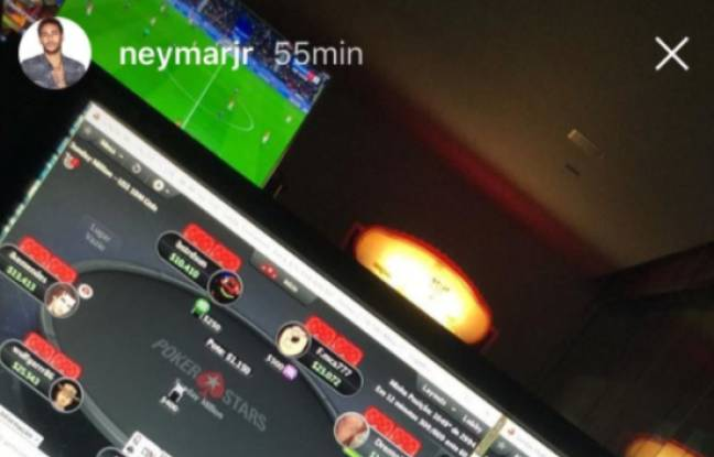 Neymar durant le match.