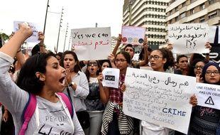 Des manifestants à Casablanca ont organisé un sit-in le marcredi 23 août 2017 pour dénoncer les violences sexuelles à l'encontre des femmes.