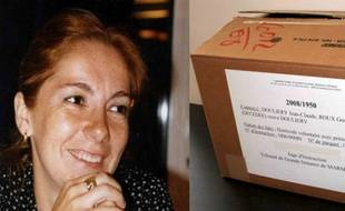 Les ossements de Dominique Ortiz ont été retrouvés en 2007 à Cassis, six ans après sa disparition. En mars 2009, son père ne peut toujours pas l'enterrer car sa dépouille est incomplète et éparpillée dans des cartons comme celui-ci.