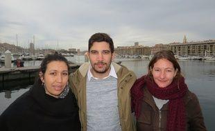 Mounia Oumahlane, Anthony Llovet et Cécile Giardino.