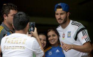 André-Pierre Gignac a été accueilli jeudi par les supporters de son nouveau club, Tigres, au Mexique.