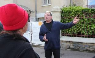 Pierre Thamin, fils de l'octogénaire dont la maison est squattée à Rennes, s'était entretenu avec des Bonnets Rouges lors d'une manifestation de soutien.