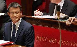 Manuel Valls à l'Assemblée le 16 septembre 2014.