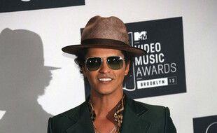 Le chanteur Bruno Mars
