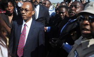 Le président haïtien Jean Bertrand Aristide à Port-au-Prince le 18 mars 2011