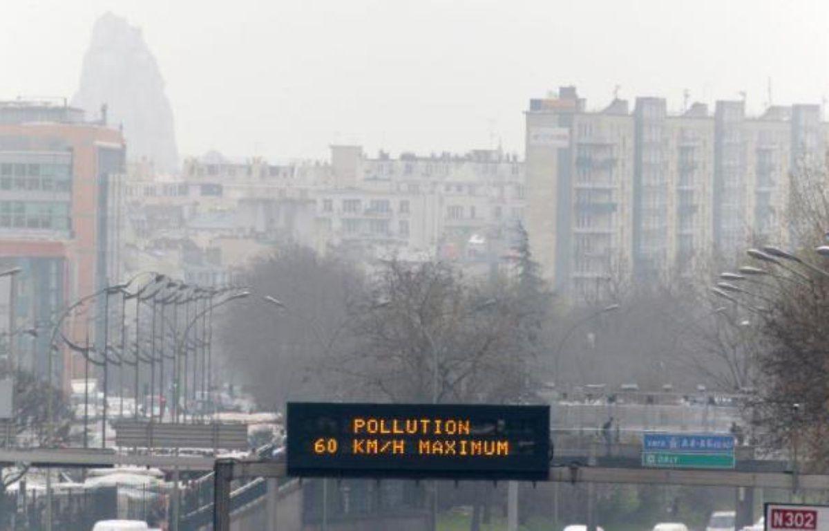 Pollution à Paris le 15 mars 2014 – François Guillot AFP