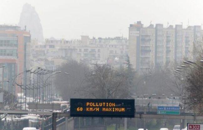 Pollution à Paris le 15 mars 2014