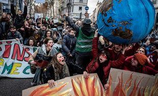 La marche pour le climat à Lyon le 8 décembre 2018
