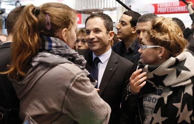 Benoît Hamon au Salon de l'agriculture, le 2 mars 2017 à Paris.