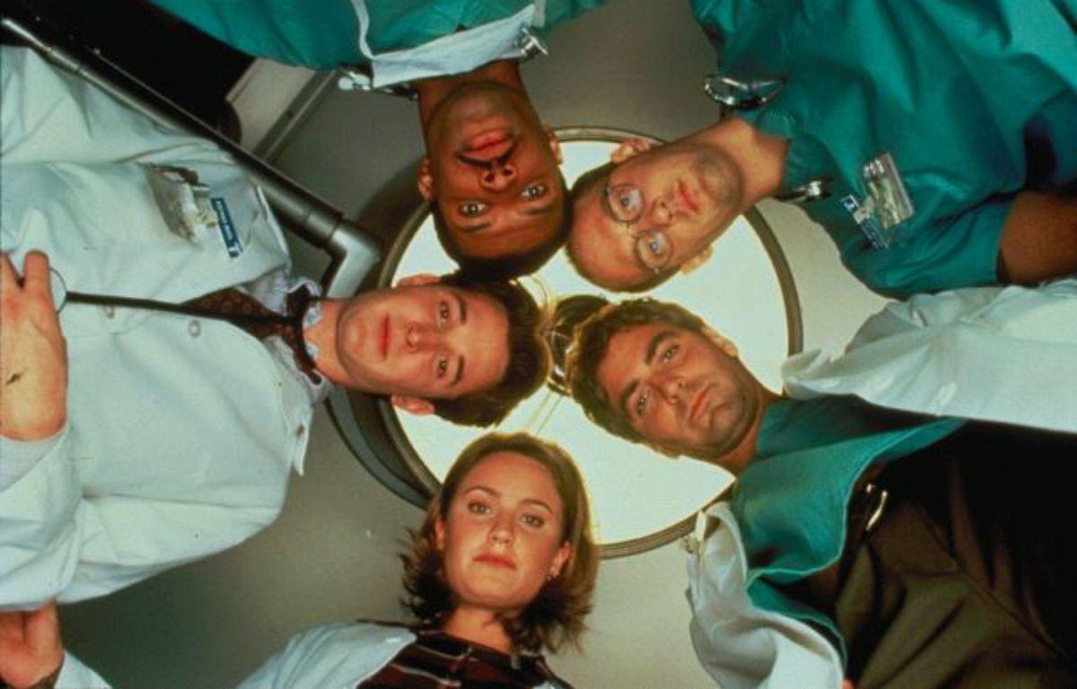 Noah Wyle, Eriq La Salle, Anthony Edwards, George Clooney et Sherry Stringfield. – NBC