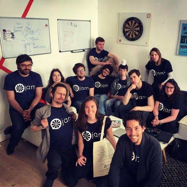 L'équipe de la start-up française Jam.