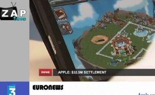 Capture d'écran du zap actu du 17 janvier 2014.
