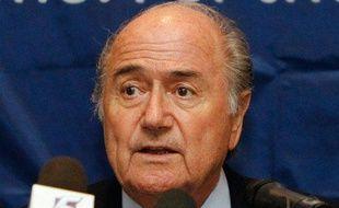 Le président de la FIFA Sepp Blatter lors d'une conférence à Singapour, le 11 août 2010