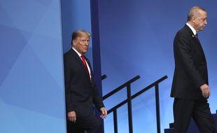 Donald Trump et Recep Tayyip Erdogan au sommet de l'Otan, en 2019. (archives)