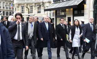 Comme avant le premier conseil des ministres de chaque année, le gouvernement prend son petit-déjeuner place Beauvau et rejoint l'Elysée à pied, distant de quelques mètres.