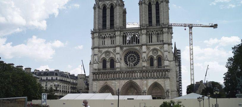 Notre-Dame de Paris, le 27 avril 2020.
