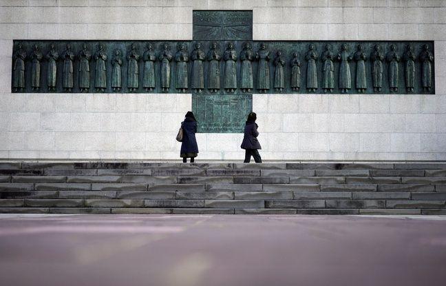 Le monument aux 26 martyrs chrétiens crucifiés en 1597, à Nagasaki.