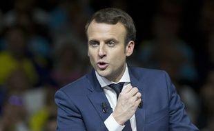 Emmanuel Macron lors de son meeting à Lyon le 4 février 2017.