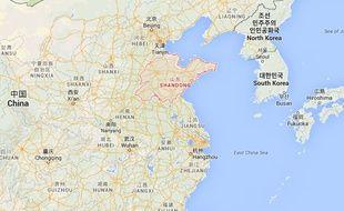Chine explosion à Shandong