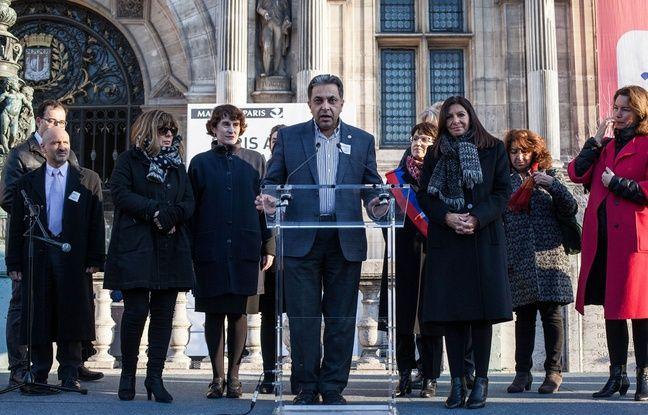 Le Dr Ziad Alissa, médecin franco-syrien et président de l'UOSSM, le 15 décembre 2016 à Paris, lors du départ du convoi humanitaire vers Alep organisé par son ONG.