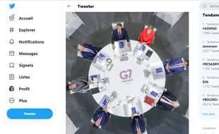 Ce cliché est l'une des images fortes de cette 45e édition du G7.