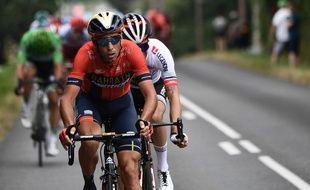 Vicenzo Nibali a attaqué dès le départ de la 14e étape du Tour de France vers le Tourmalet.