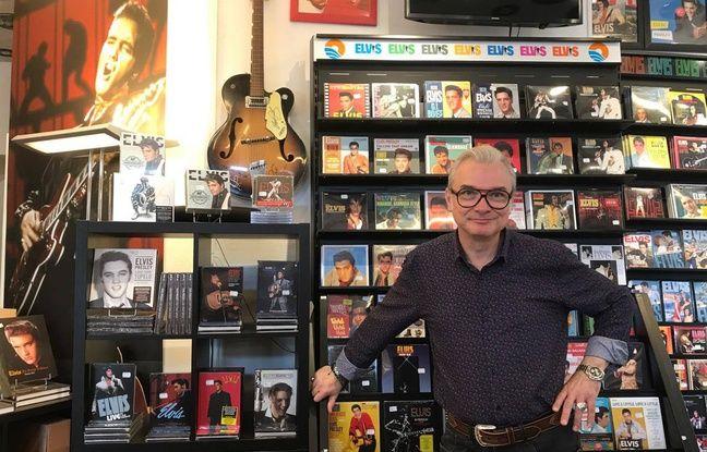 Jean-Luc Blanchet, responsable de la boutique Elvis My Happiness (Paris 15e).