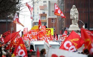 Lors d'une manifestation toulousaine contre la Loi Travail.