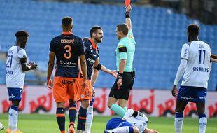 Après Vitorino Hilton, Le Tallec a été à son expulsé contre Reims lors d'un match catastrophique pour le MHSC.