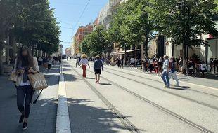 L'avenue Jean-Médecin à Nice, le 26 mai 2021