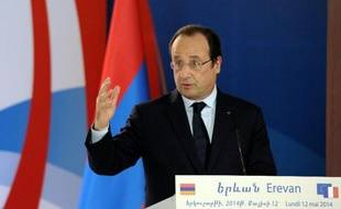 François Hollande à Erevan (Arménie), le 12 mai 2014
