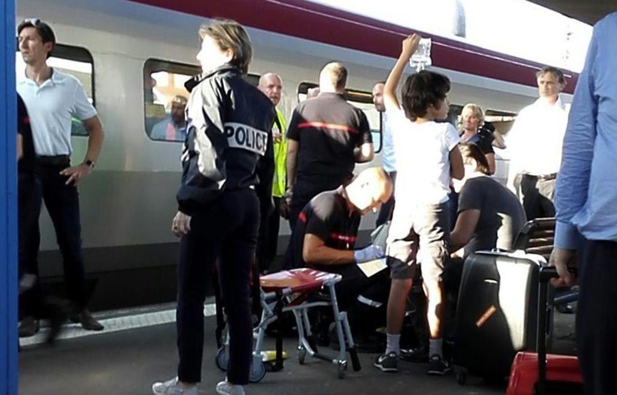 Une fusillade a fait deux blessés dans un Thalys à Arras, le 21 août 2015. – RAFAEL BENAMRAN / AFP