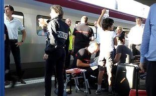 Une fusillade a fait deux blessés dans un Thalys à Arras, le 21 août 2015.