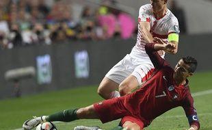 Cristiano Ronaldo face à la Suisse