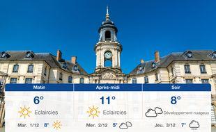 Météo Rennes: Prévisions du lundi 30 novembre 2020