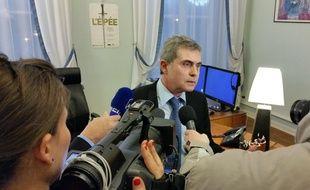Le procureur de la République de Mulhouse Dominique Alzéari, lors d'un précédent point presse, en 2015.