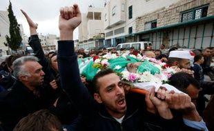 Funérailles le 28 mai 2016 à Hebron de Abdel Fattah al-Chérif, tué par un soldat israélien en mars