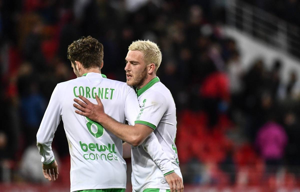 Jordan Veretout a débloqué la situation pour l'ASSE, ce dimanche à Dijon (0-1). JEFF PACHOUD – AFP