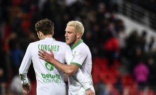 Jordan Veretout a débloqué la situation pour l'ASSE, ce dimanche à Dijon (0-1). JEFF PACHOUD