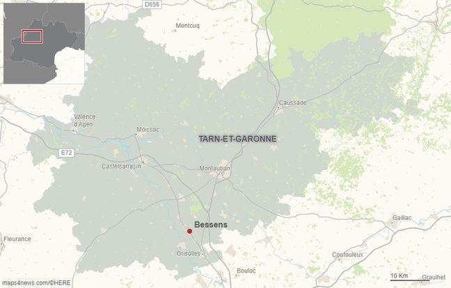 La commune de Bessens dans le Tarn-et-Garonne.