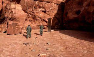 Le monolithe découvert dans l'Utah.