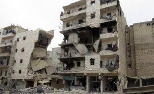 Les destructions dans la ville d'Alep le 25 novembre 2013