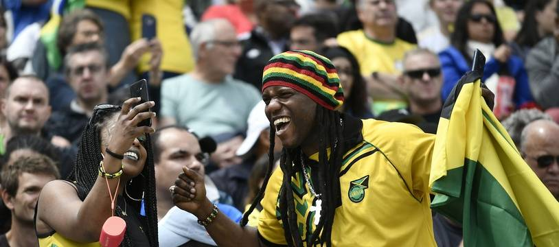 Les supporters de l'équipe jamaïcaine étaient aussi moins aussi passionnés que ceux de la Seleçao, dimanche à Grenoble.