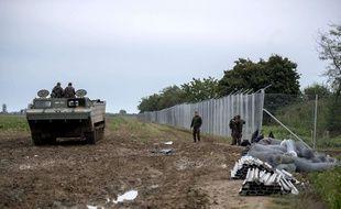 La clôture anti-migrants entre la Croatie et la Hongrie, à Beremend, le 28 septembre 2015.