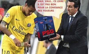 Unai Emery tente d'expliquer un truc à Neymar.