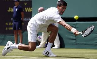 Djokovic a réussi ses débuts à Wimbledon ce lundi.