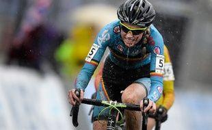 Femke Van den Driessche lors des Mondiaux de cyclo-cross le 30 janvier 2016.
