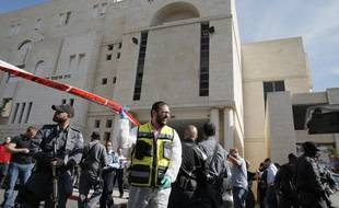 Attentat sur une synagogue à Jérusalem le 18 novembre 2014.