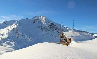 Photo non datée du site de Valfréjus (Savoie) où cinq militaires sont morts le 18 janvier 2016 dans une avalanche