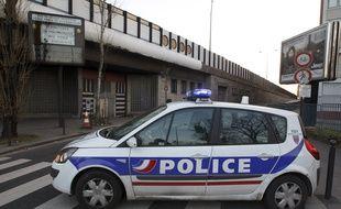 Paris le 21 fevrier 2013.Ilustration de voitures de polic